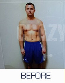 Crazy Mass Bulking Stack Review - Before Picture