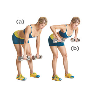 Bent over dumbbell rows