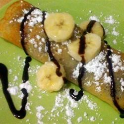 Coconut Crepes with Banana Filling