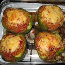 Toaster Oven Stuffed Peppers